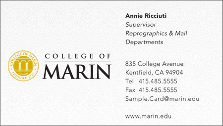 Kentfield Business Card