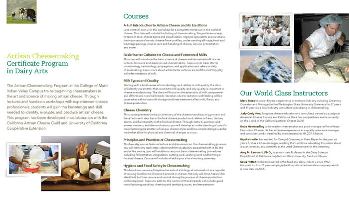 Cheese Brochure Page 2
