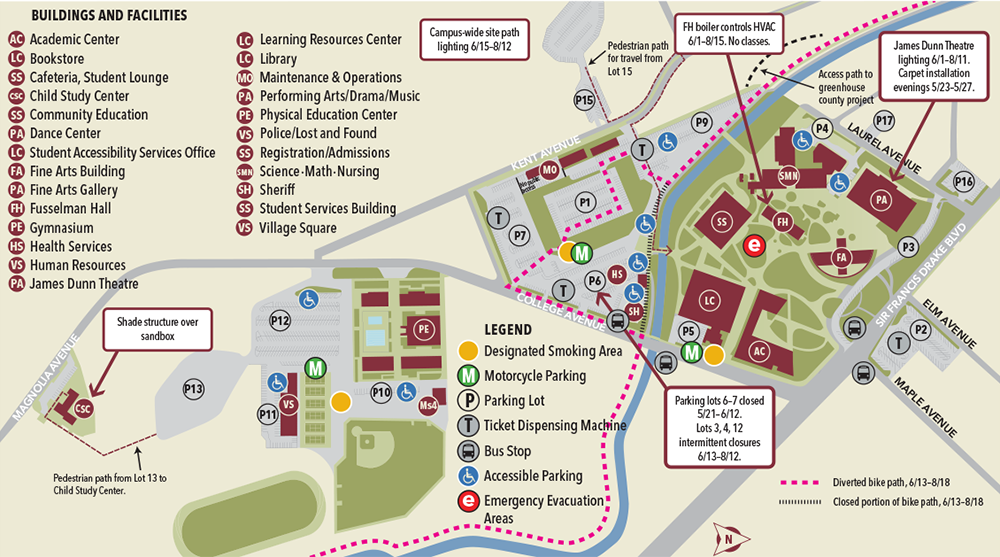Kentfield Campus Map